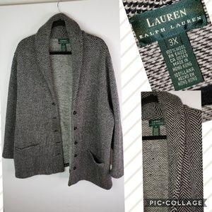 Lauren Ralph Lauren wool cardigan sz 3XL